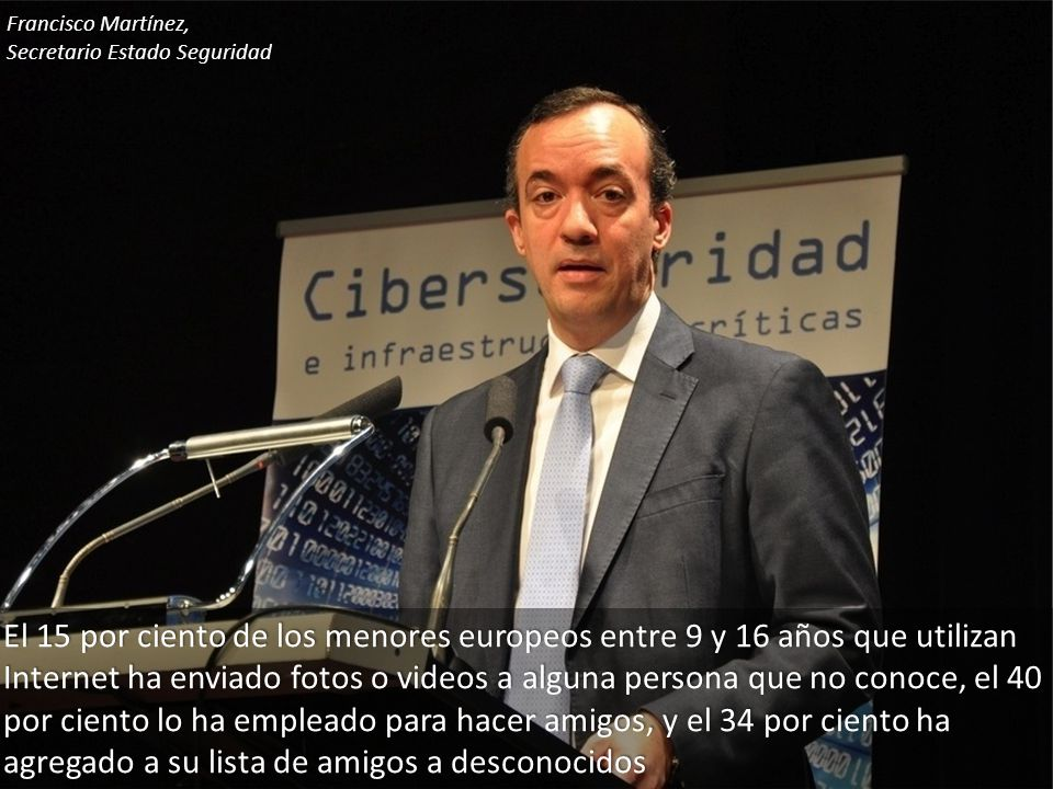 Francisco Martínez, Secretario Estado Seguridad.