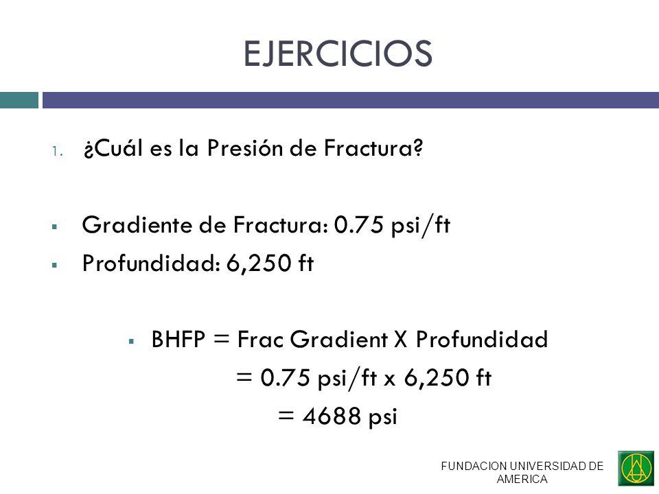 EJERCICIOS ¿Cuál es la Presión de Fractura