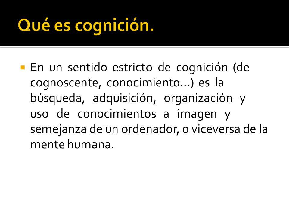 Qué es cognición.