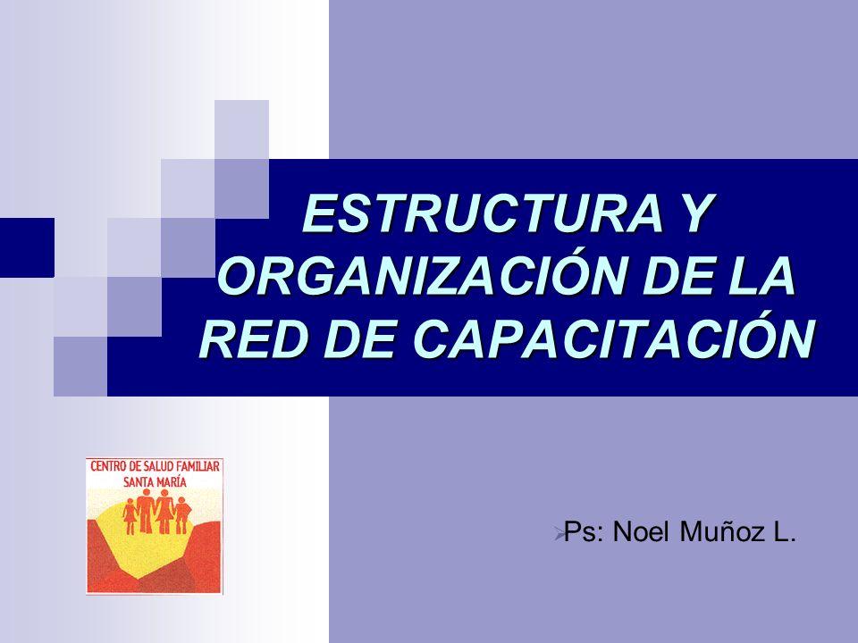 ESTRUCTURA Y ORGANIZACIÓN DE LA RED DE CAPACITACIÓN