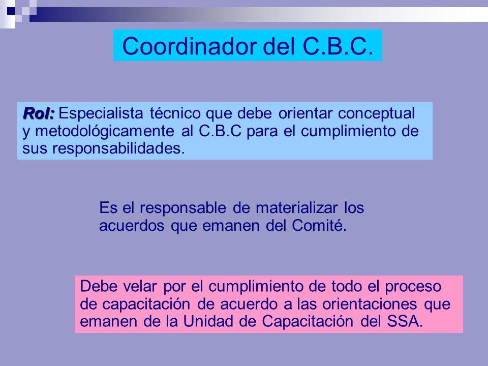 Coordinador del C.B.C.