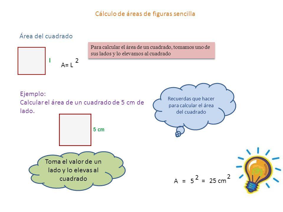 Cálculo de áreas de figuras sencilla