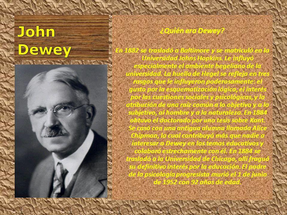 John Dewey ¿Quién era Dewey