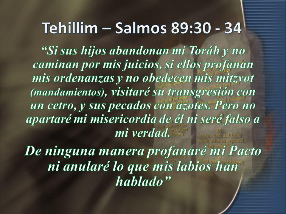 Tehillim – Salmos 89:30 - 34