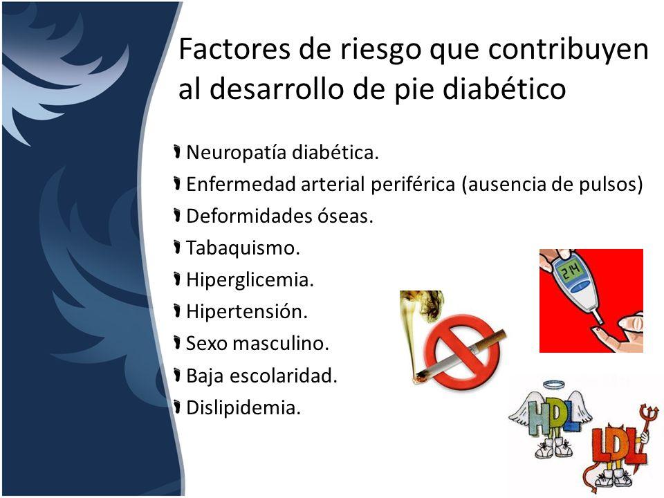 Factores de riesgo que contribuyen al desarrollo de pie diabético