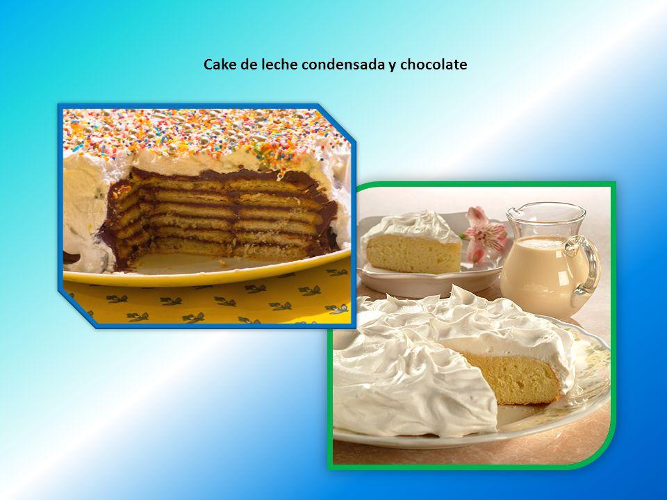 Cake de leche condensada y chocolate