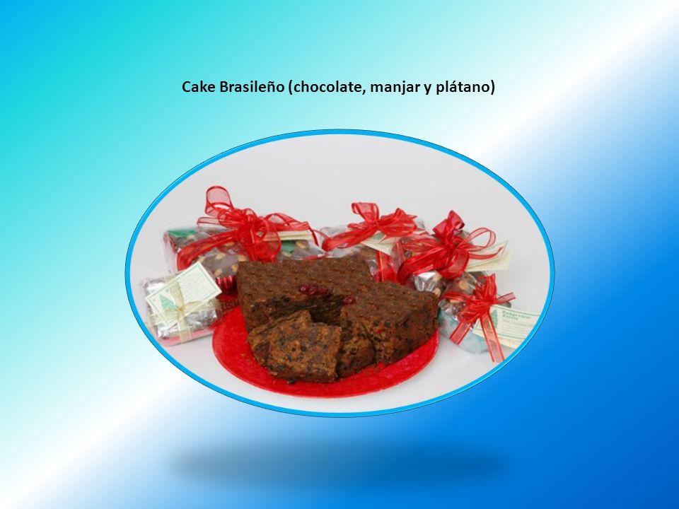 Cake Brasileño (chocolate, manjar y plátano)