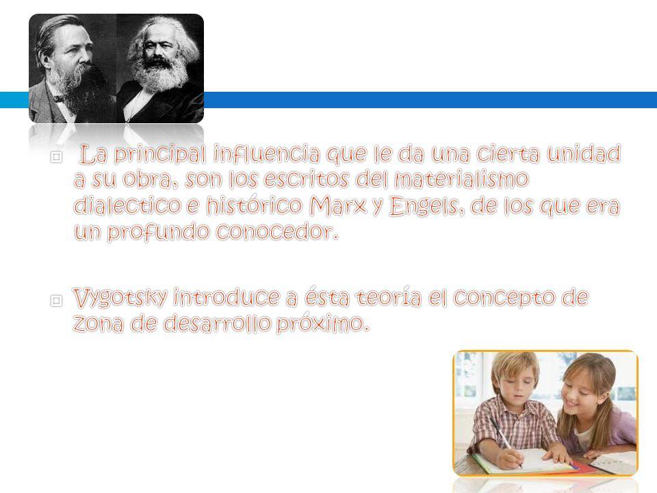 La principal influencia que le da una cierta unidad a su obra, son los escritos del materialismo dialectico e histórico Marx y Engels, de los que era un profundo conocedor.