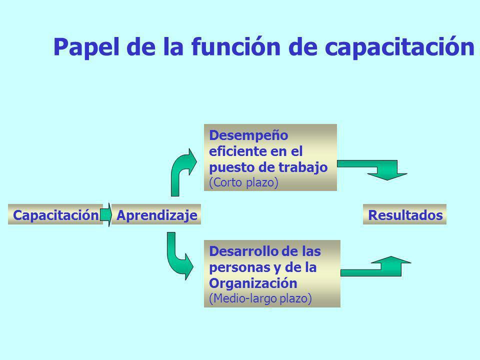 Papel de la función de capacitación