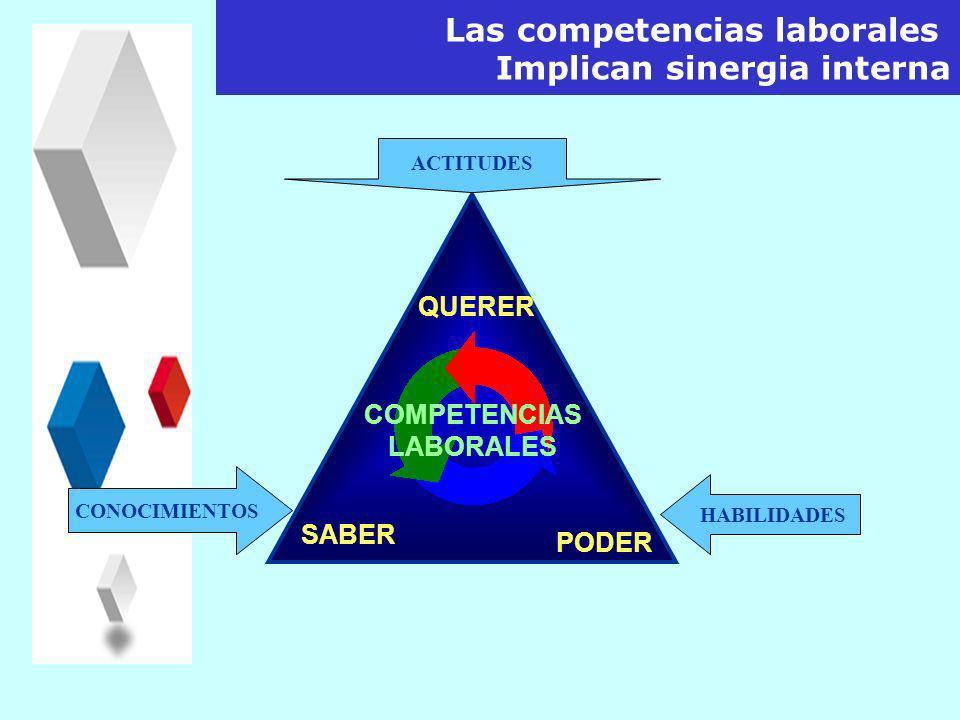 Las competencias laborales Implican sinergia interna
