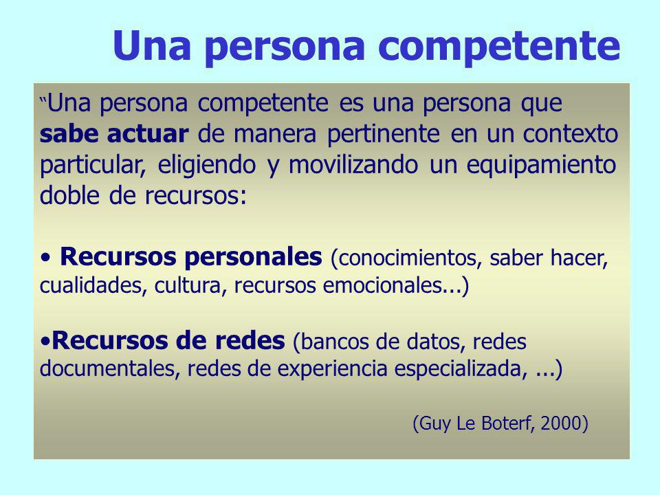 Una persona competente