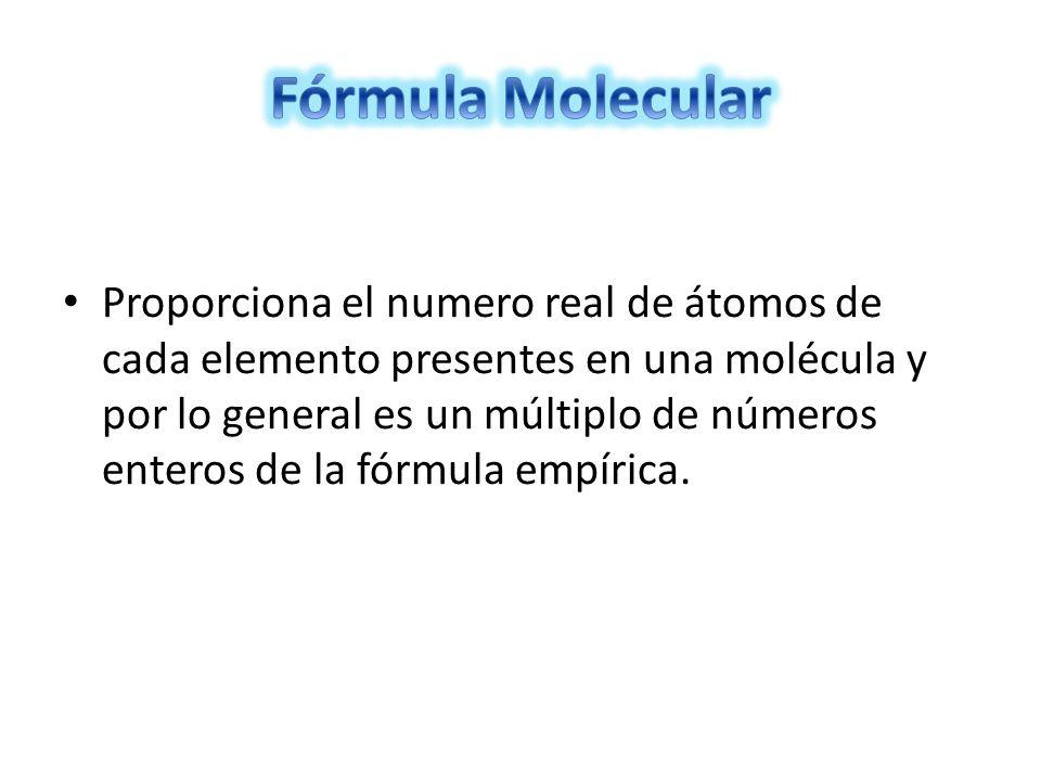 Fórmula Molecular