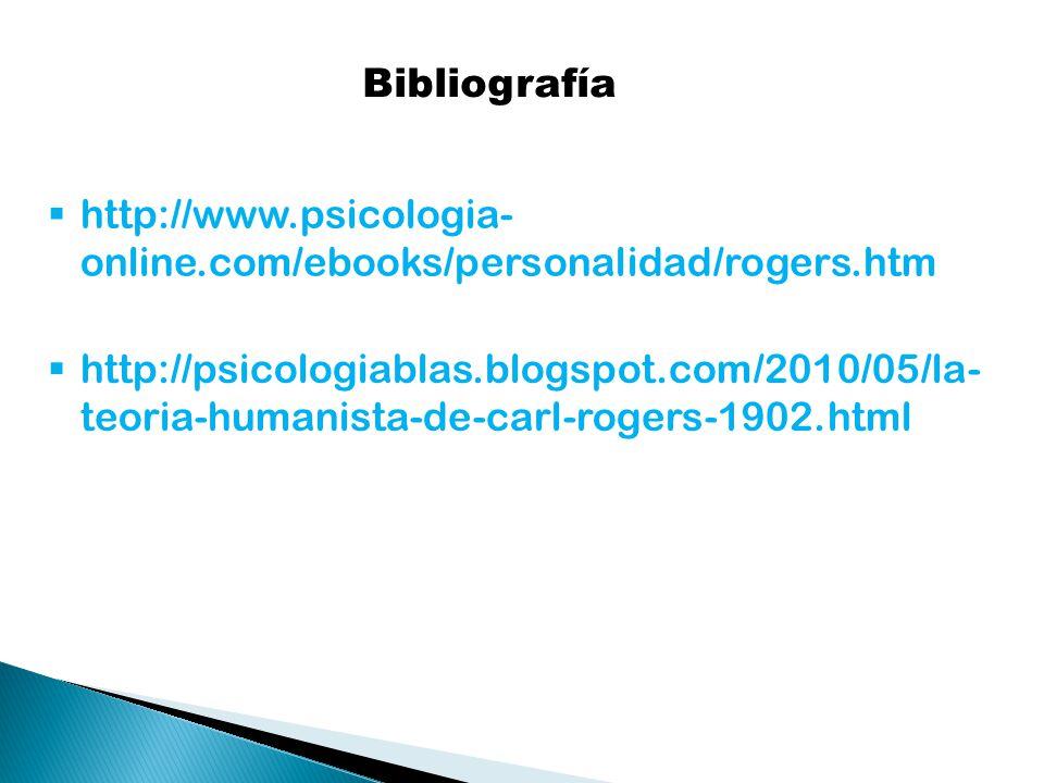 Bibliografía http://www.psicologia-online.com/ebooks/personalidad/rogers.htm.