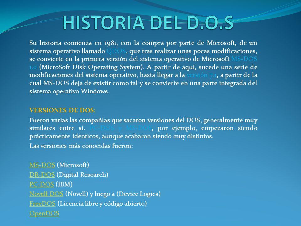 HISTORIA DEL D.O.S