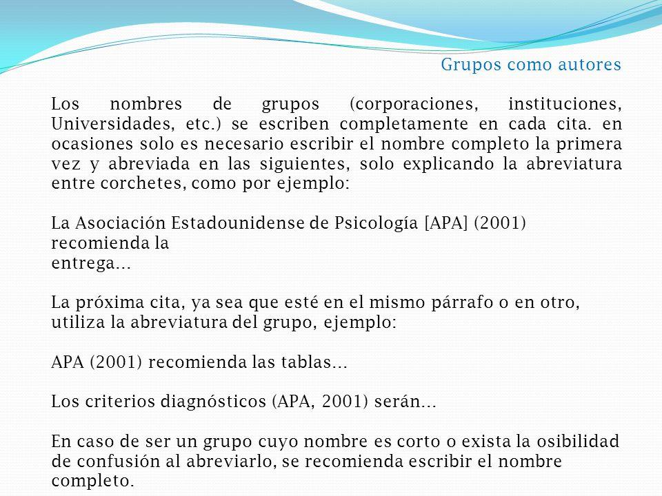 Grupos como autores