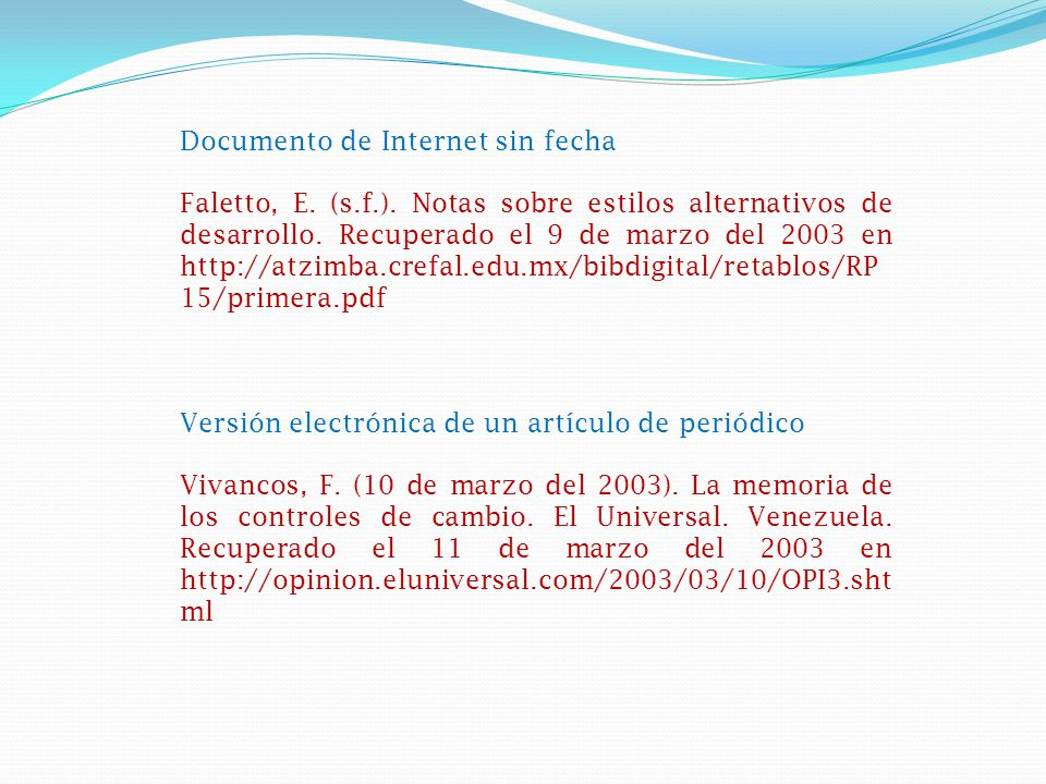 Documento de Internet sin fecha