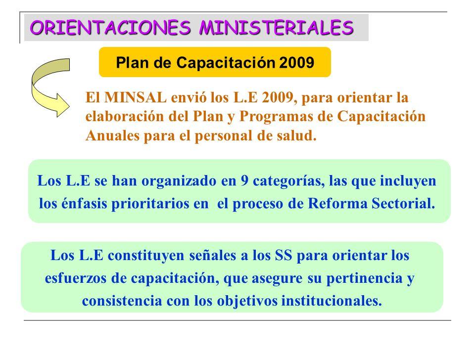 ORIENTACIONES MINISTERIALES