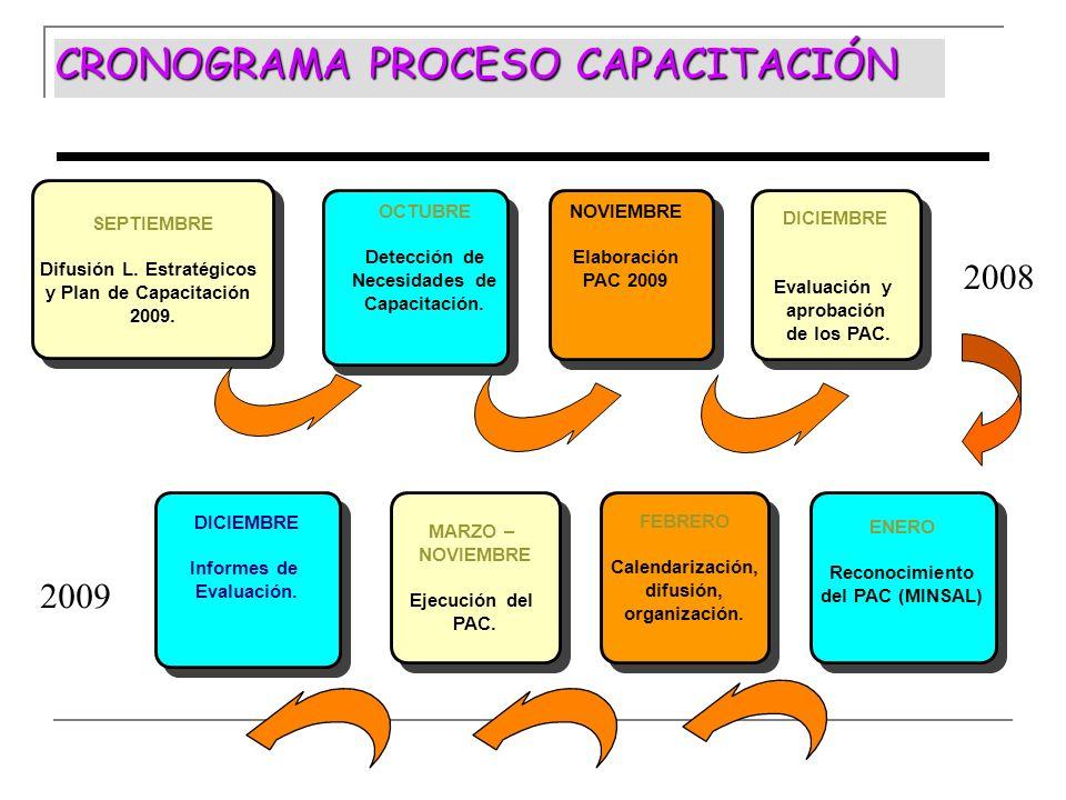 CRONOGRAMA PROCESO CAPACITACIÓN
