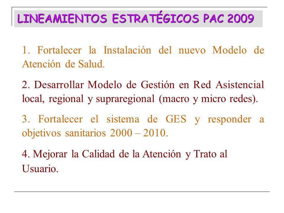 LINEAMIENTOS ESTRATÉGICOS PAC 2009