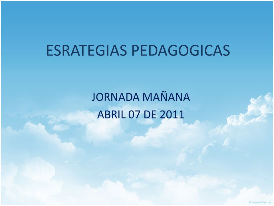 ESRATEGIAS PEDAGOGICAS