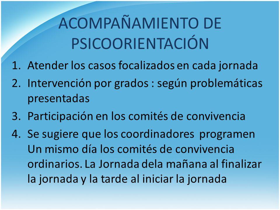 ACOMPAÑAMIENTO DE PSICOORIENTACIÓN