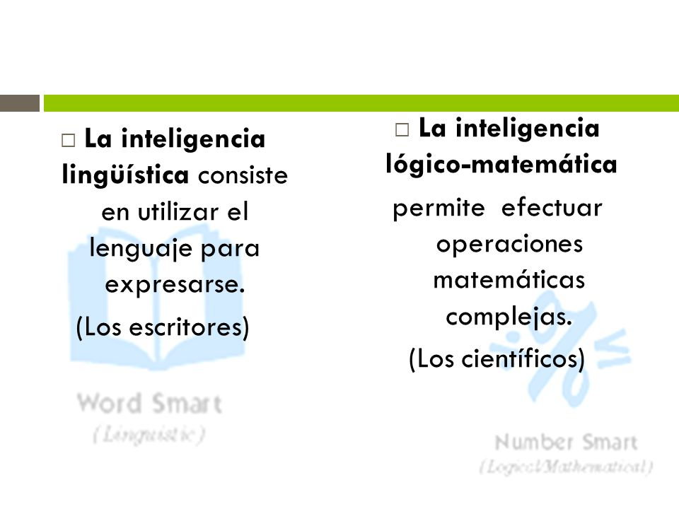 La inteligencia lógico-matemática