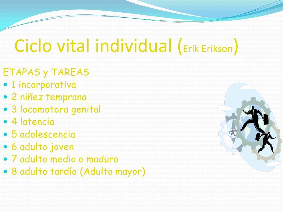 Ciclo vital individual (Erik Erikson)