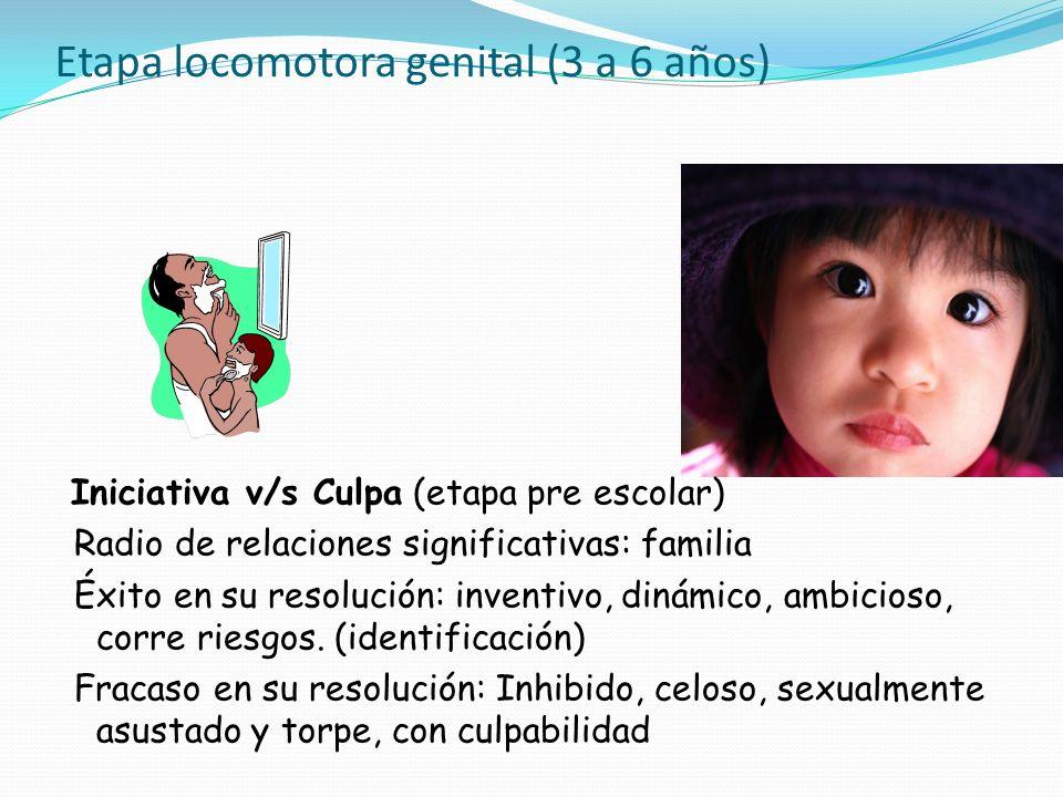 Etapa locomotora genital (3 a 6 años)
