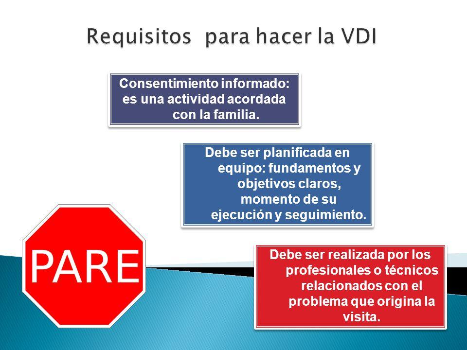 Requisitos para hacer la VDI