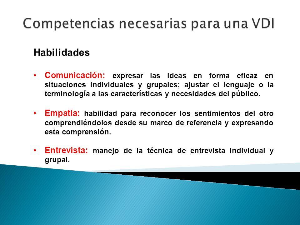 Competencias necesarias para una VDI