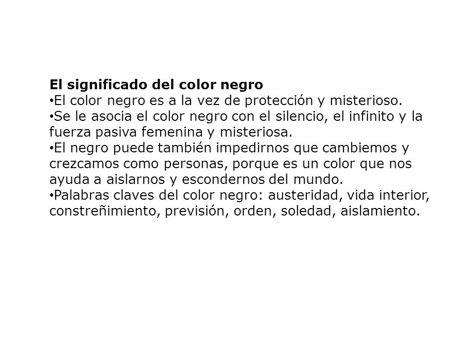 El significado del color negro