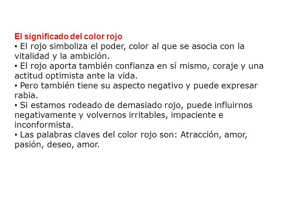 El significado del color rojo