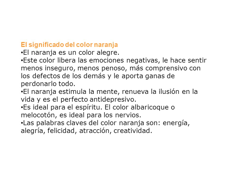 El significado del color naranja