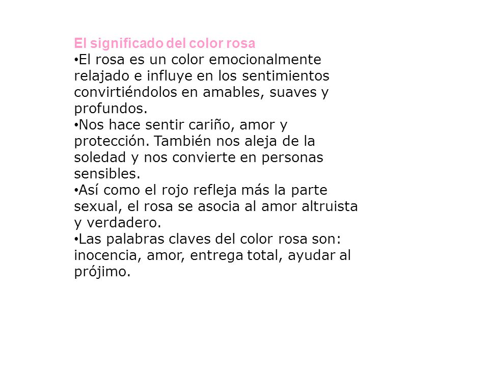 El significado del color rosa