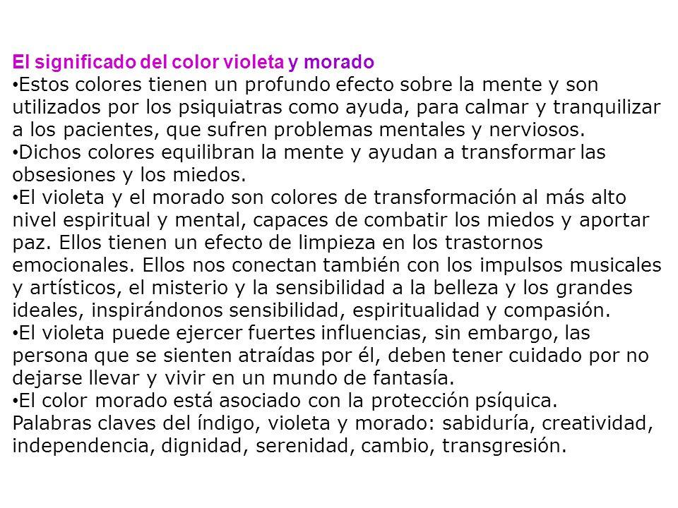 El significado del color violeta y morado