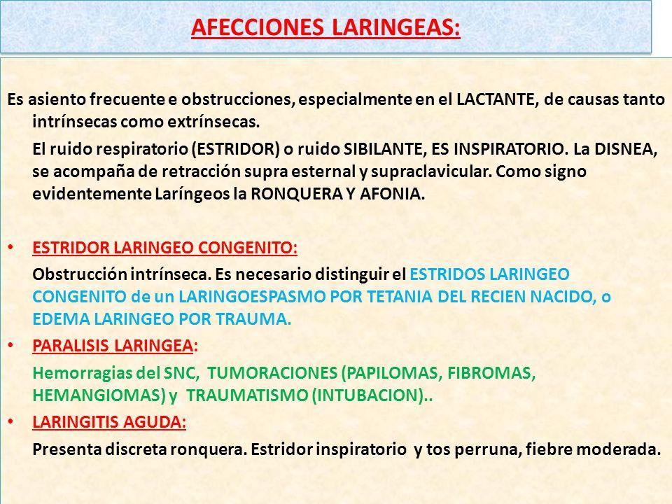 AFECCIONES LARINGEAS: