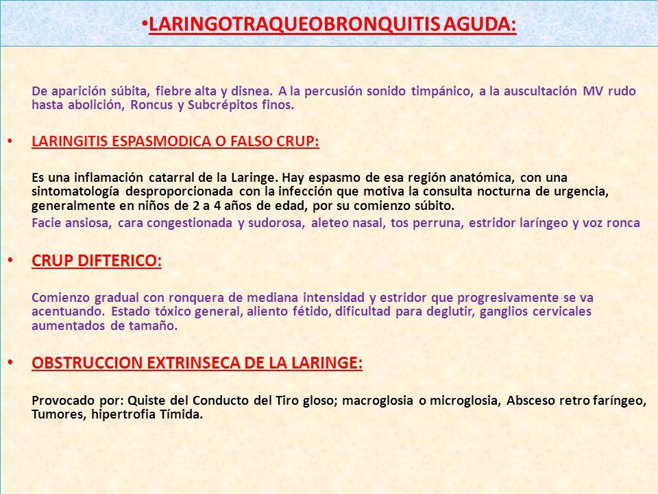 LARINGOTRAQUEOBRONQUITIS AGUDA:
