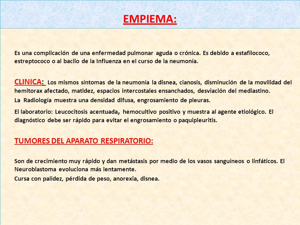 TUMORES DEL APARATO RESPIRATORIO: