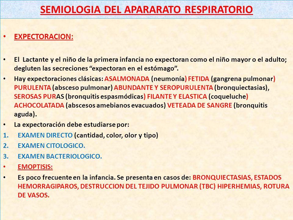 SEMIOLOGIA DEL APARARATO RESPIRATORIO