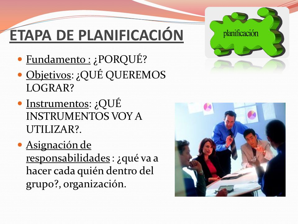 ETAPA DE PLANIFICACIÓN