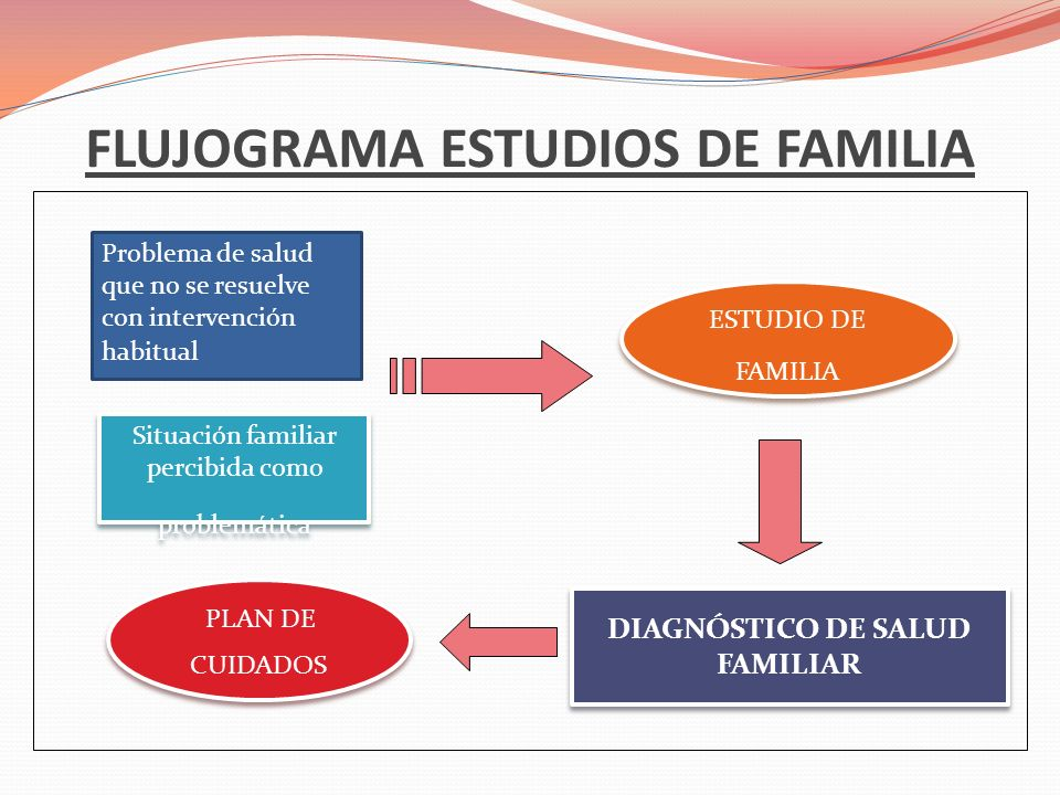FLUJOGRAMA ESTUDIOS DE FAMILIA