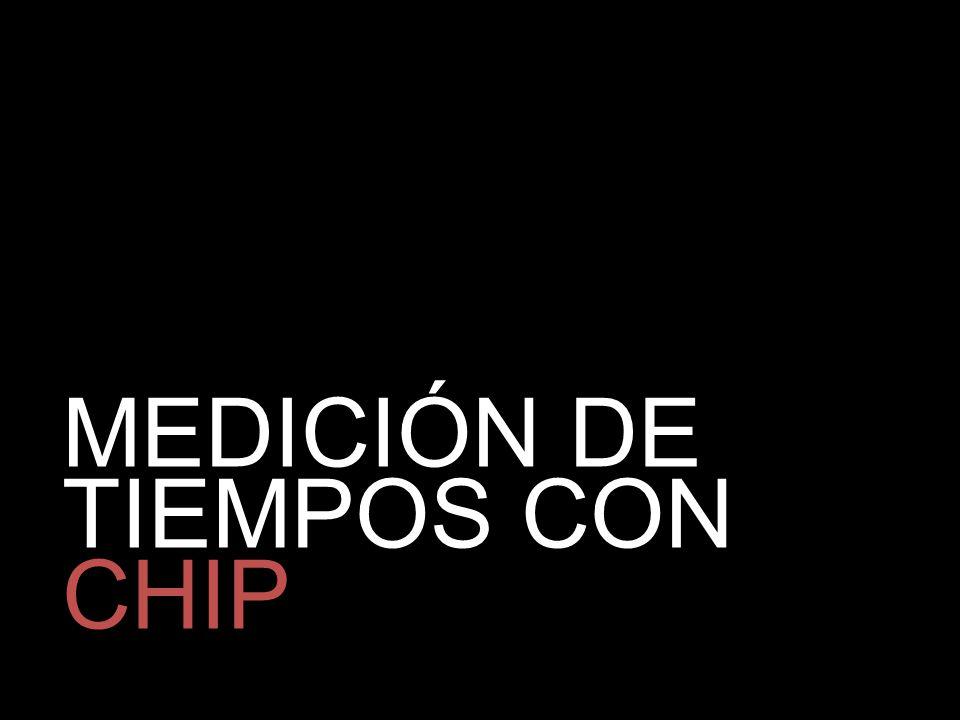 MEDICIÓN DE TIEMPOS CON CHIP