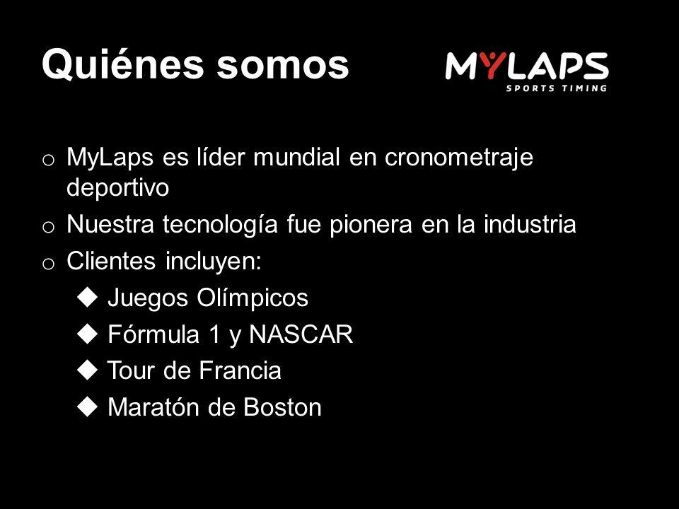 Quiénes somos MyLaps es líder mundial en cronometraje deportivo