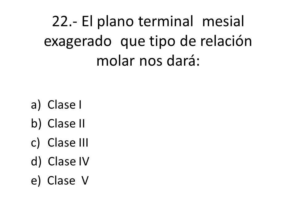 Clase I Clase II Clase III d) Clase IV e) Clase V