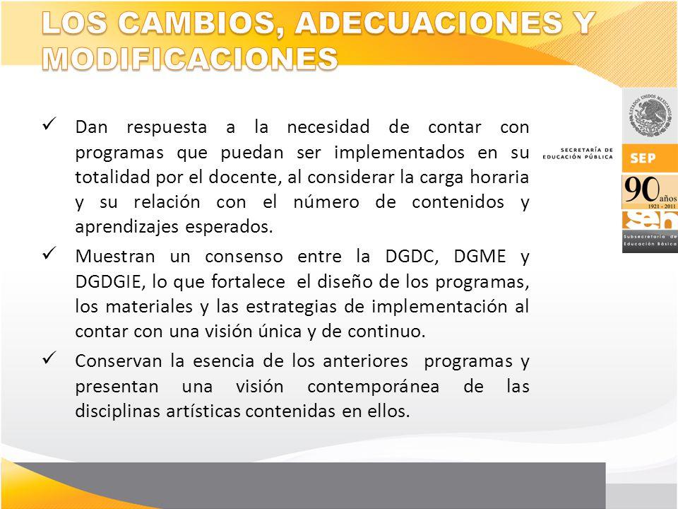 LOS CAMBIOS, ADECUACIONES Y MODIFICACIONES