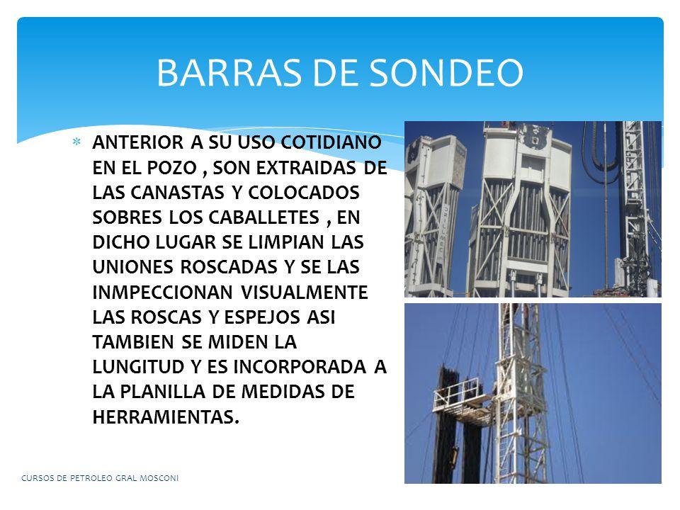 BARRAS DE SONDEO