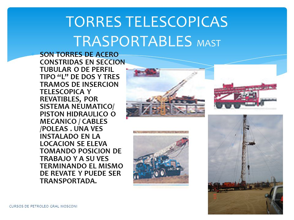 TORRES TELESCOPICAS TRASPORTABLES MAST