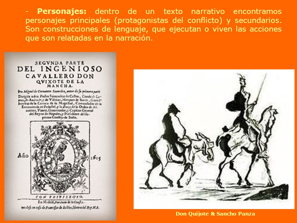 Don Quijote & Sancho Panza