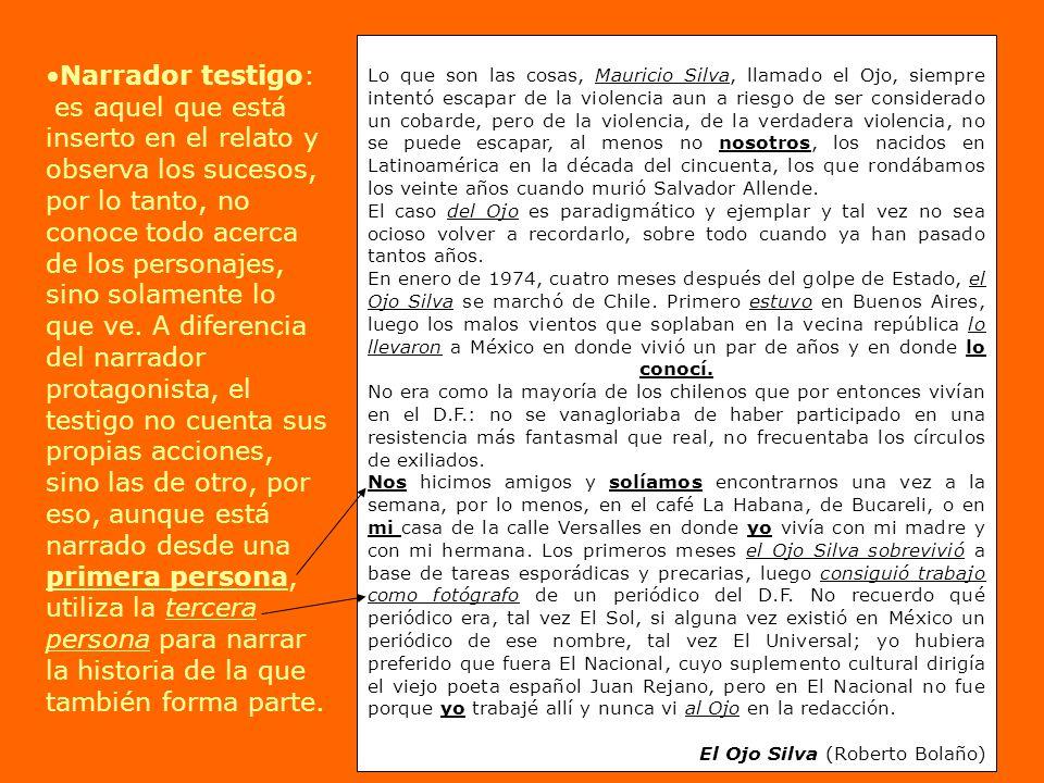 Lo que son las cosas, Mauricio Silva, llamado el Ojo, siempre intentó escapar de la violencia aun a riesgo de ser considerado un cobarde, pero de la violencia, de la verdadera violencia, no se puede escapar, al menos no nosotros, los nacidos en Latinoamérica en la década del cincuenta, los que rondábamos los veinte años cuando murió Salvador Allende.