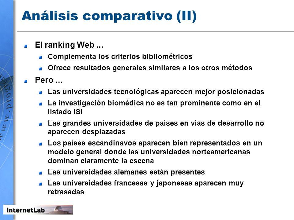 Análisis comparativo (II)